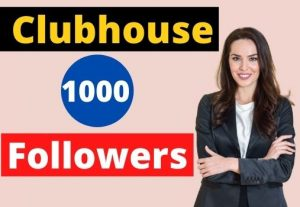 Provide 1000 clubhouse Followers active users non-drop.