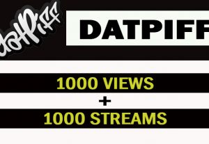 Datpiff Music Promotion 1000 views and 1000 streams