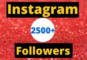 Instant Start 2500+ Instagram Followers Non-drop real & organic.