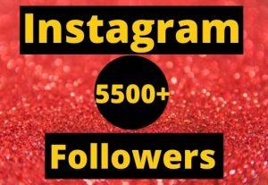 Instant Start 5500+ Instagram Followers Non-drop real & organic.