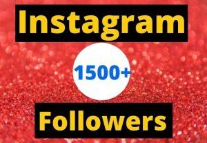 Instant Start 1500+ Instagram Followers Non-drop real & organic.