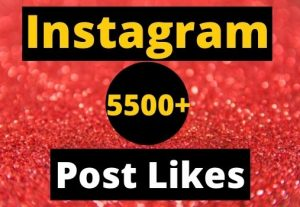 Give Instant 5500+ Instagram Likes on your Instagram post real & organic.