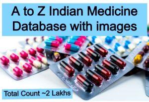 Indian medicine or drug database