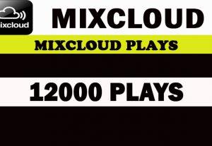 12000 World Mixcloud Plays. Real Active promotion