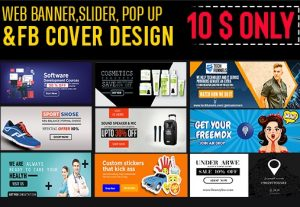 design professional web banner, Facebook cover, pop up and ads