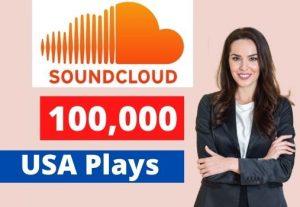Give 100K SoundCloud USA Plays Non-Drop Lifetime Guaranteed.