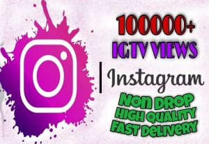 I will provide 100000+ TV/IGTV Views on Instagram!! Fast and HQ!!