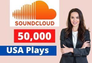 Give 50K SoundCloud USA Plays Non-Drop Lifetime Guaranteed
