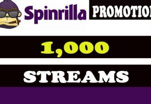 Spinrilla Music Promotion 1,000 streams