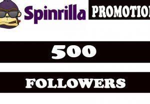 Spinrilla Music Promotion 500 Followers