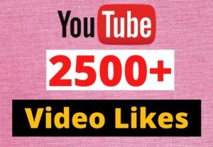 Give 2500 to 3000 YouTube Likes in your YouTube video 100% Guaranteed real and organic.