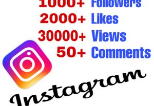 Get Package : 1000+ Followers, 2000+ Likes, 30000+ Views & 50+ Comments on Instagram ! Non Drop!