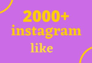 super fast 2000+ instagram likes high quality and organic non drop…