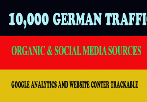 I will give you 10,000 Real German traffic to your website