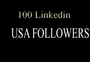100 HQ Linkedin Company Page USA Followers