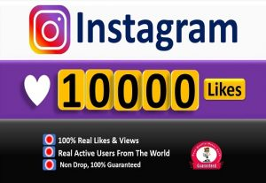 Instant 10,000+ Instagram Likes, Real & Active Users, Non-Drop Guaranteed.