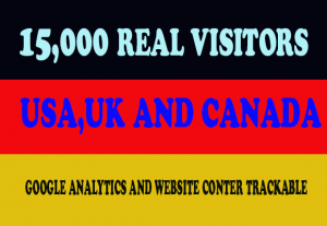 15,000 Real Human Traffic From USA/UK/CANADA