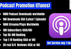 I will promote your podcast and increase downloads