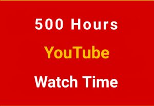 500+ Hour Youtube Watch Time ,Life Time Guranteed non drop