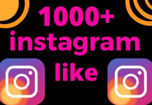 I will give you 1000+ Instagram Likes Non-drop, and lifetime guaranteed
