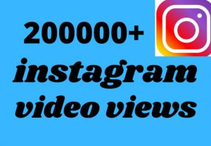 200000+ instagram video views get 100% Real and organic non drop