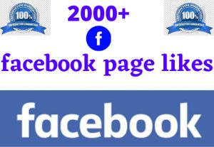 i will give 2000+facebook page likes 100% Real grented