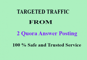 I will give you 20 Niche Relevant Quora Answers Posting Permanent Live Link