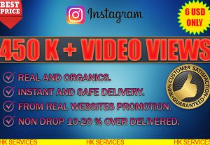 I WILL ADD 450K+ INSTAGRAM VIDEO VIEWS REAL AND INSTANT.NON DROP .NO BOTS OR AUTOMATION.