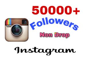 Get 50k Followers on Instagram profile . Non Drop guaranteed!