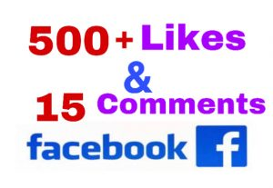 I will add 500+ Likes & 15 Comments on Facebook Post ! Non Drop!