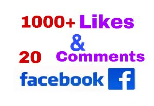 I will add 1000+ Likes & 20 Comments on Facebook Post ! Non Drop!