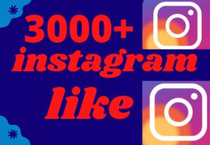 3000+ Instagram Likes lifetime garanted100% Real non drop fast dalivry..
