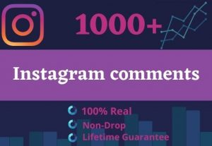 Promote Your Instagram For 1000 Comments & 100 Followers| GUARANTEE SERVICE