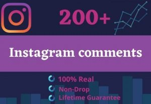 Promote Your Instagram For 200 Comments & 200 Followers | GUARANTEE SERVICE