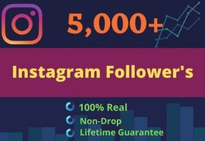 Promote Your Instagram For 5000 Followers , 250 likes | GUARANTEE SERVICE
