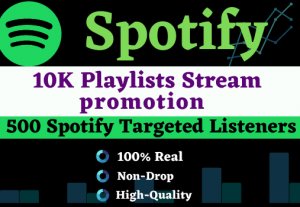 Add more than 10000+ plays to your song on Spotify & 100 Listeners