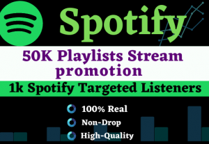 Add more than 50,000+ plays to your song on Spotify & 500 Listeners