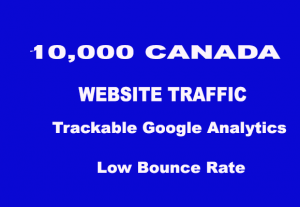 10,000+ Canada Real Human Traffic  for $ 5