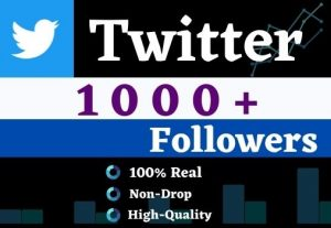 Get 1000+ Twitter Organic Followers,It is High Quality, Non-drop, Lifetime User Guaranteed