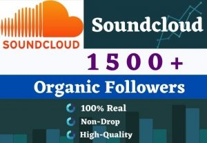 Get 1500 Soundcloud Followers .It is High-Quality, Active User's And Non-drop