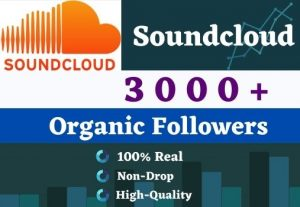 Get 3000 Soundcloud Followers. It is High-Quality, Active Users And Non-drop