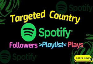 Get 1000 Spotify ORGANIC Plays From HQ USA Accounts or Worldwide Followers, Real and Active Users, Guaranteed