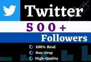 Get 500+ Twitter Organic Followers,It is High Quality, Non-drop, Lifetime User Guaranteed