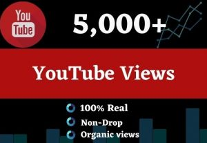 Get 5000 Youtube Views and 25 comments, Organic views Non drop, and a Lifetime guarantee