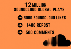 14 MILLION SOUNDCLOUD  GLOBAL PLAYS WITH 3500 LIKES 1600 REPOST AND 600 COMMENTS