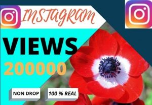 i will do fast your Instagram 200000 views, lifetime granted and organic