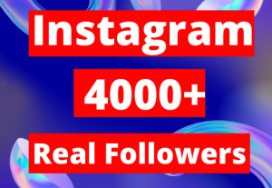 Real 4000+ Instagram Followers HQ