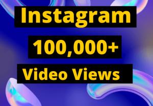 Instagram 100,000+ Video views & IGTV Views