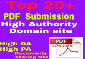 I will do 20 pdf submission on top documents sharing site