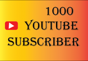 1000+youtube subscriber, best quality and lifetime permanent